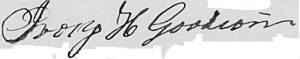 Ivory H. Goodwin's signature on his father's probate record.  Courtesy FamilySearch.